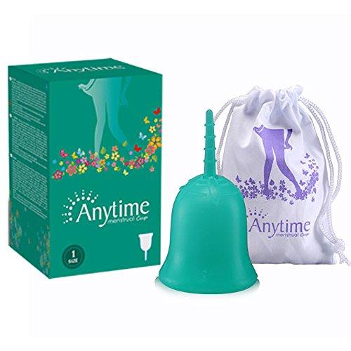 Cups Menstruelles Bio Coupes Menstruelles Féminines Option Alternative pour Tampon durant Menstruation ou avant Accouchement Cup La Coupe Menstruelle La Plus Recommandée (Small, vert)