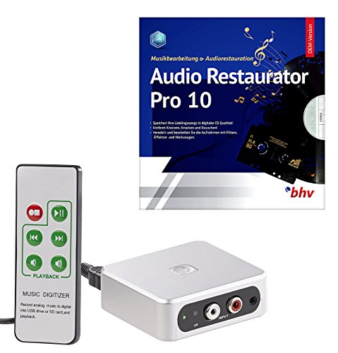 auvisio Audio Digitizer: Autarker Audio-Digitalisierer mit Software Audio Restaurator Pro 10 (Audio Konverter)