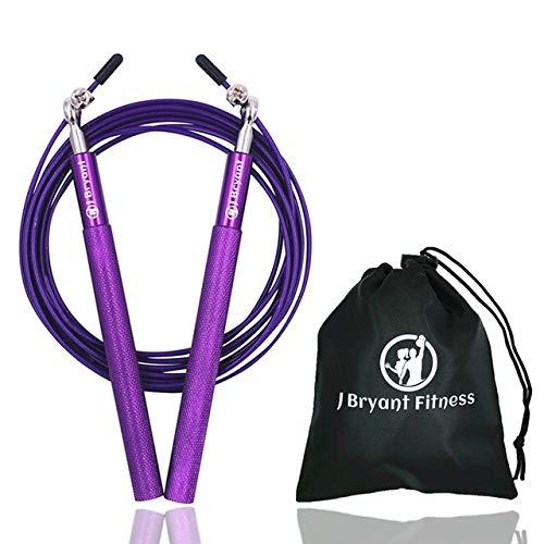 UQstyle Corde de saut de vitesse professionnelle technique corde de remise en forme pour adultes Sports de saut de vitesse, crossfit, boxe, maman, fitness, exercice, exercices B