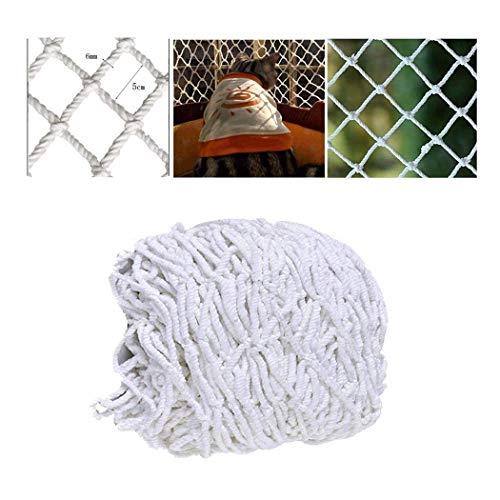 Schutznetz, Treppe Balkon Kind Spielzeuge Katze Sicherheitsnetze Ladung Anti-Fall-Netz Schützend Garten Pflanze Kletternetz Anhängernetze Frachtnetze Dicke 6mm/Mesh 5cm Weiß