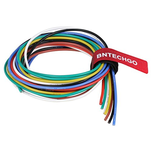 BNTECHGO 18 Gauge Silicone Wire Kit 7 Color Each 3 ft Flexible 18 AWG Stranded Tinned Copper Wire