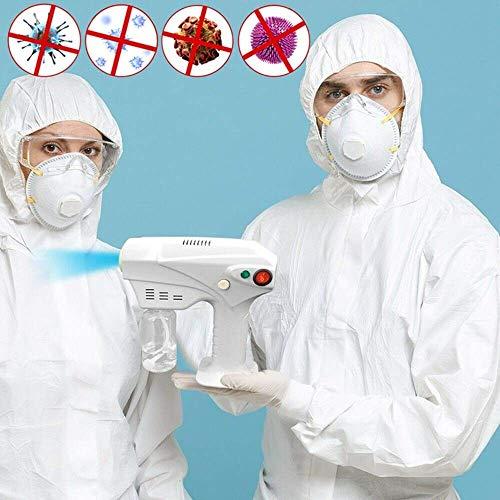 Qiutianchen Spritzzerstäubung Desinfektions-Fogger-Maschine Blu-ray-Nano-Dampf-Spritzpistole mit einstellbarem Fluss und 2,5 m Netzkabel für die Umweltdesinfektionssterilisation desodorieren
