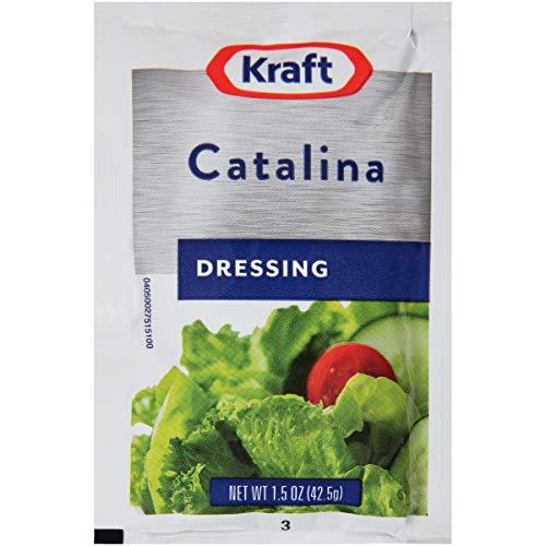 Kraft Catalina Salad Dressing Single Serve Packet (1.5 oz Packets, Pack of 60)