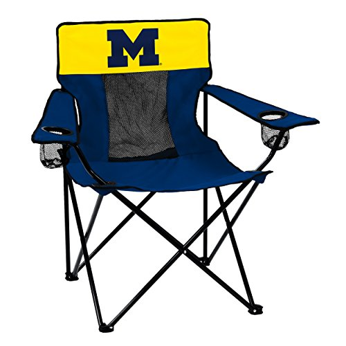 NCAA Logo Brands Michigan Wolverines Elite Chair, Team Color