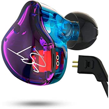 Easy KZ ZST Colorful Hybrid Banlance Armature with Dynamic in-Ear Earphone 1BA+1DD HiFi Headset (Colorful ZST MIC)