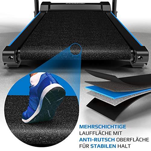 Kinetic Sports KST4600FX Laufband klappbar elektrisch 1100 Watt leiser Elektromotor 12 Programme, bis 120kg, GEH- und Lauftraining, Tablethalterung, bis 12 km/h, Steigung verstellbar - 5