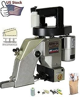 iKonix Industrial Portable Bag Closer Sack Closing Stitching Sewing Machine Auto Lub