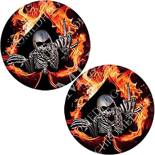 Brake Insert Medallion Decal for Brembo Fire Skeleton Caliper Ranking Max 59% OFF TOP20 -