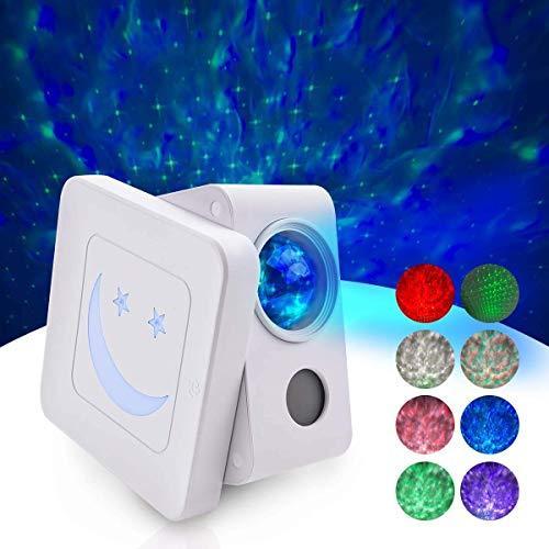LED Sternenhimmel Projektor lampe, ceshu Sternenlicht Projektor nachtlicht sternenhimmel Sound Sensor/3 Helligkeitsstufen/Timing-Funktion für Kinder Schlafzimmer, Haus Dekoration, Party, Halloween
