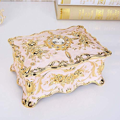 LCSD Ornaments - Joyero creativo europeo, doble estilo retro, caja de joyería de metal con múltiples capas de princesa, 18,2 x 12,9 x 8,9 cm (color: 3)
