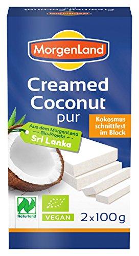 Morgenland Creamed-Coconut 100% pure Kokosnuss 200g Bio Kokos, 3er Pack (3 x 200 g)