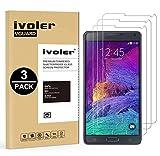 ivoler [Pack de 3] Verre Trempé Compatible avec Samsung Galaxy Note 4, Film Protection en Verre trempé écran Protecteur...