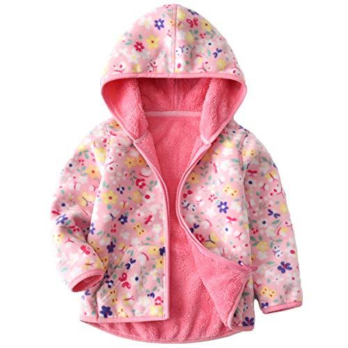 Chaqueta de forro polar Vine, unisex, de 1 a 6 años, reversible rosa rosa Talla:3-4 años