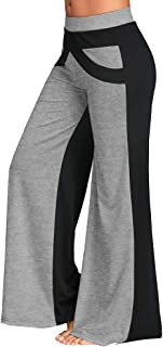 Limsea Boot-Cut Yoga Pants Tummy Control Patchwork Bell Bottoms Flare Trousers Mid Waisted Wide Leg Yoga Pants
