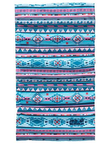 Jack Wolfskin Kinder Print Headgear Kids Schal, Atoll Blue All Over, ONE Size