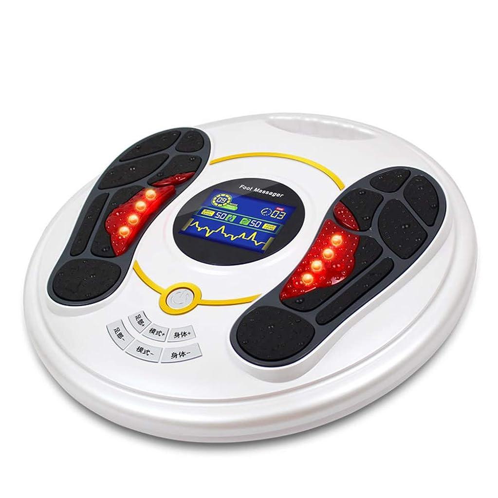 頑張る謝罪するエラー電気の 電動フットマッサージャーサイレントパルスマッサージ、99ギアポジションマッサージ力調整、切り替え可能なディープニーディングで足の痛みを軽減 人間工学的デザイン, White