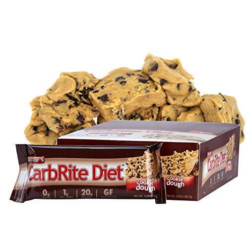 Doctor's CarbRite Cookie Dough, Barritas dietéticas con pasta de galletas con chocolate - 12 Unidades