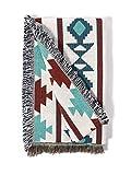 Sonemone Throw Blanket Year Round Aztec Bohemian Home Cozy Couch Sofa Bed Beach Travel 50x60 Blue