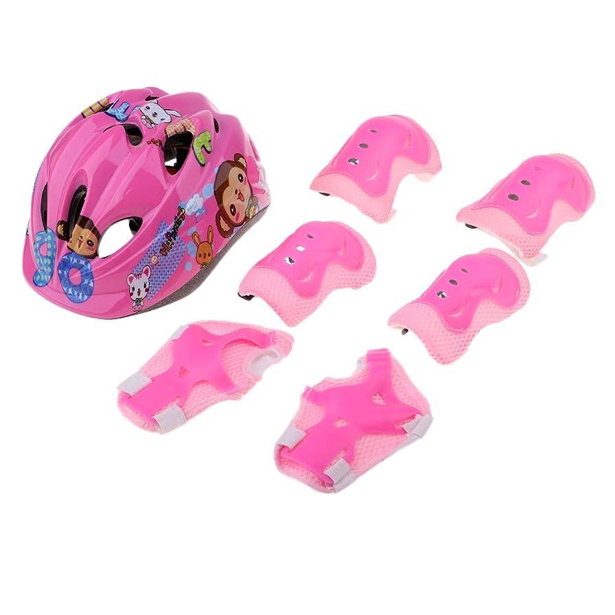 批判する輪郭グラフィックPerfeclan ヘルメット エルボーパッド ニーパッド 手首ガード 子供 スケートボード保護具 全3色