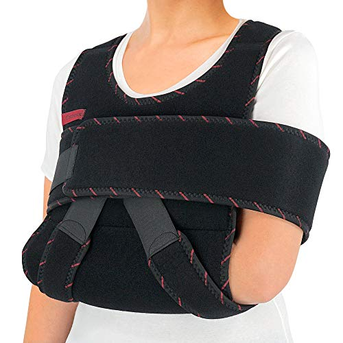 ORTONYX Arm Sling Shoulder Immobilizer Brace - Adjustable Rotator Cuff and Elbow Support – for Men and Women - Fits Left and Right Hand - Extra Immobilizer Band Provides Extra Protection/Large-XXL