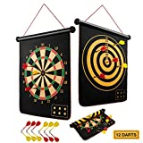 BATURU Dart Board Toys for 8 Year Old Boys, Magnetic Dart Board for Kids Indoor, Kids Dart Games with 12pcs Magnetic Darts (Traditional)