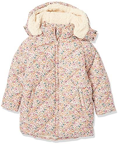 Amazon Essentials Abrigo Largo Acolchado Cocoon para niñas Chaqueta, Rosa Mini Floral, 4-5 años