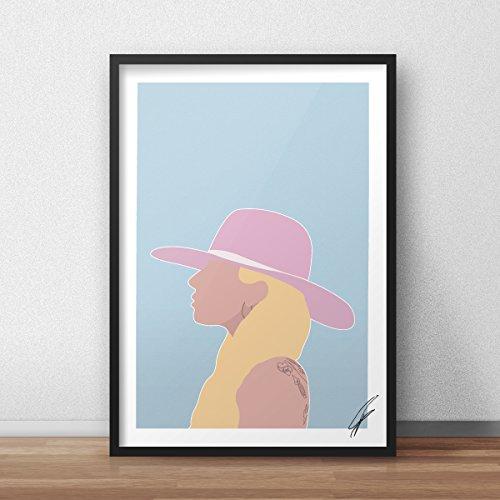 Von Lady Gaga inspirierte Illustration.