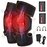 Knee Heating pad, Heated Vibration Knee Brace Massager Adjustable Knee Wraps for Back Neck Shoulder Pain Relief Arthritis Cramps Portable Joint Warmer Therapy Pad Knee Support for Men Women
