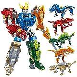 GUDI Kit de construcción de Transformers (Kit 5 Dinos)