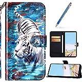 URFEDA Brillante Cover Compatibile con Huawei P Smart 2020 Custodia Portafoglio Pelle Libr...