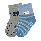 Sterntaler Baby Jungen Abs-krabbelsßckchendp Nilpferd Socken, Blau (Zartblau 399), 6-9 Monate EU