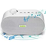 Bubos White Noise Machine, Sound Machine for Sleeping & Relaxing, 26 Non-Looping HiFi Smooth Sounds, 3 Auto-Off Timer, Portable, Sleep Therapy for Home, Office, Baby, Kid,Pets, USB or AC Powered