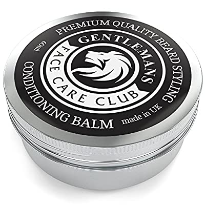 Beard Balm - Premium Quality Conditioning Butter For Creating Beard Styles, Goatees, Sideburns + Moustaches – Extra Large 60ml Tub from Gentlemans Face Care Club