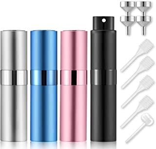 Lil Ray 8ml Portable Mini Perfume Atomizer(4 PCS),Refilable Empty Small Spray Bottle for Travel,...