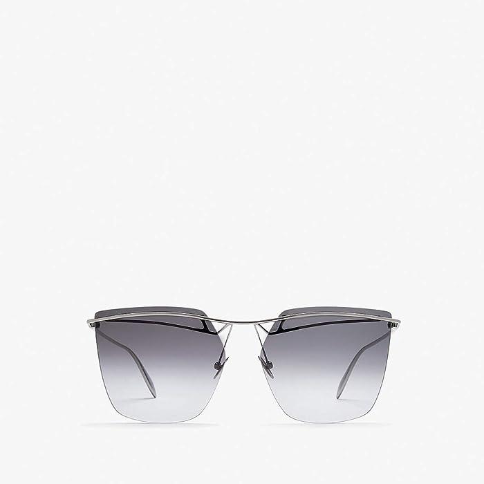 Alexander McQueen  AM0144S (Light Ruthenium) Fashion Sunglasses