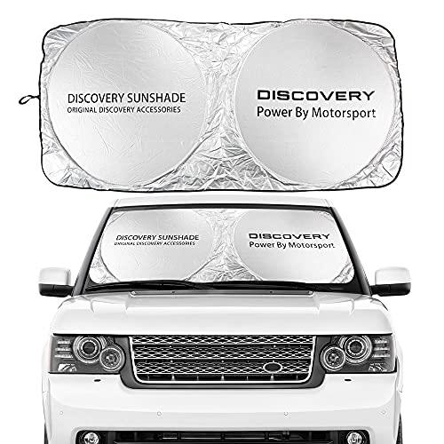 Parasoles de coche Cubierta de la sombra del sol del parabrisas del coche para el Land Rover Autogiography Discovery Evoque Freelander Supercharged SVR Velar Accesorios Auto Parasoles de parabrisas