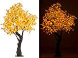 Luminea LED Baum: LED-Deko-Ahornbaum, 576 beleuchtete Herbstblättern, 200 cm, für innen (Deko...
