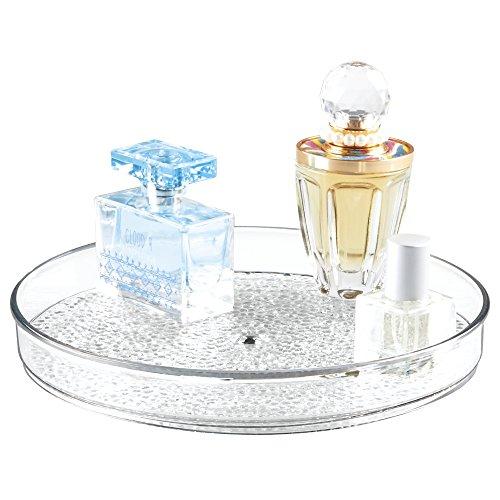 mDesign Drehteller – drehbarer Kosmetik Organizer für Waschtisch und Schrank – zur Makeup- und Kosmetikaufbewahrung – transparent