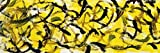 Cuadros abstractos de arte de pared amarillo negro y dorado decorados con carteles e impresiones arte de pared lienzo pintura sala Cuadros20x60cm