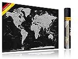 FlyHigh XXL Weltkarte Poster zum Rubbeln in Deutscher