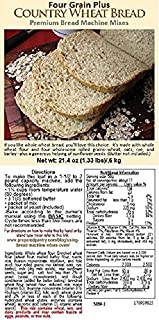 The Prepared Pantry Four Grain Country Wheat Bread Machine Mix, 85.6 Ounce