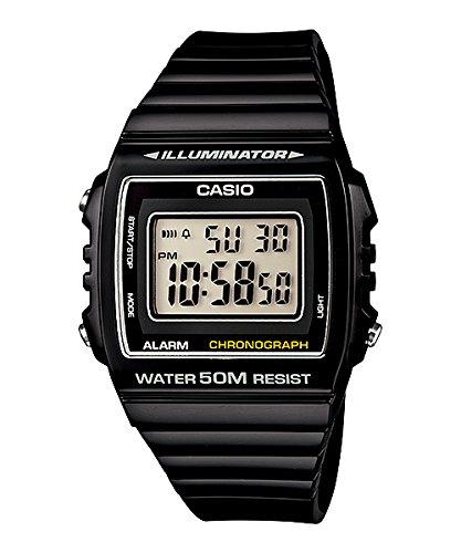 Casio W-215H-1AVDF - Reloj (Reloj de pulsera, Resina, Negro, Resina, Negro,...