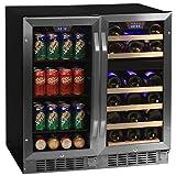 "Edgestar CWBV8026 26 Bottle + 80 Can Side-by-Side 30"" Wide Wine & Beverage"