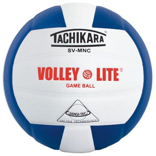 Tachikara SV-MNC Volleyball Volleyball mit Sensi-Tech Bezug, reguläre Größe Aber Leichter (royal/weiß)