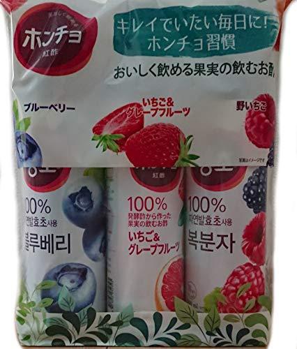 DAESANG ホンチョ 紅酢 美味しく飲めるお酢 3本セット グレープフルーツ/ザクロ/アオリンゴ 900mlx3