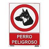 Wurko - Cartel'Perro Peligroso' 29,7 x 21 cm