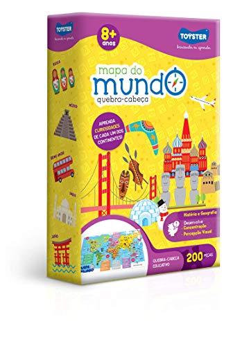 Mapa do Mundo - QC, Toyster Brinquedos, Multicor