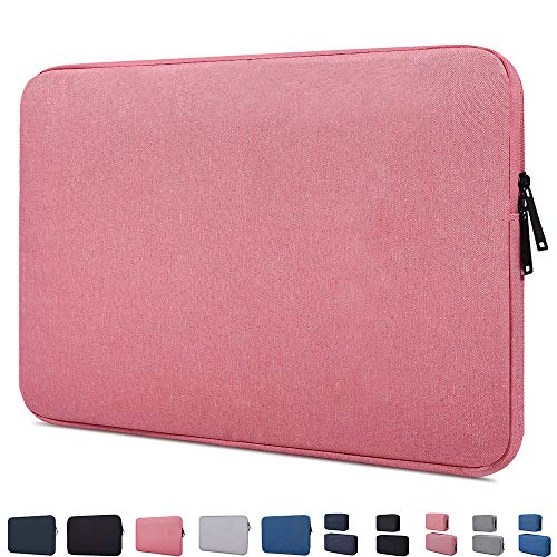 """14-15 Inch Waterproof Laptop Sleeve Case Compatible with Acer Chromebook 14,HP Chromebook 14/Stream 14,Lenovo Chromebook S330 14"""", LG gram 14, Acer ASUS Toshiba HP 14 inch Chromebook Notebook Bag,Pink"""