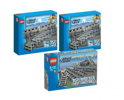 Lego City 7499 Flexible Schienen 2er Set und 7895 Weichen
