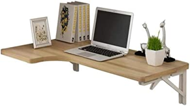 SYLTL Składane pływające biurko na laptopa, montowane na ścianie, stół typu Drop-Leaf, oszczędność miejsca do gabinetu, sy...